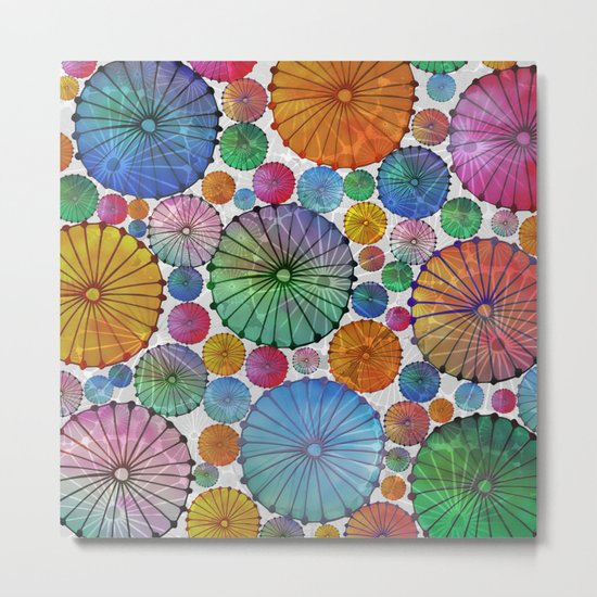 Abstract Floral Circles 5 Metal Print