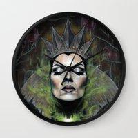 queen Wall Clocks featuring My Queen by Wendy Ortiz