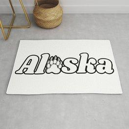 Alaska Bear Paw Print Nature Kodiak Katmai Rug