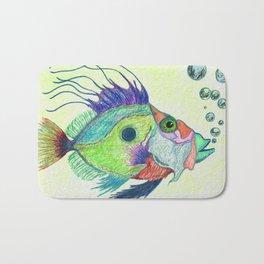 Funky Fish Art - By Sharon Cummings Bath Mat