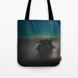 Heading off to a night mission.  Tote Bag