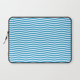 Oktoberfest Bavarian Blue and White Chevron Stripes Laptop Sleeve