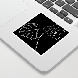 Monstera minimal - black Sticker