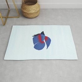 betta splendens royal blue male Rug