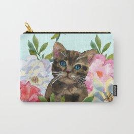 Kitten in flowers Carry-All Pouch