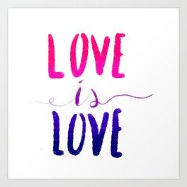 Love is Love - bi Art Print