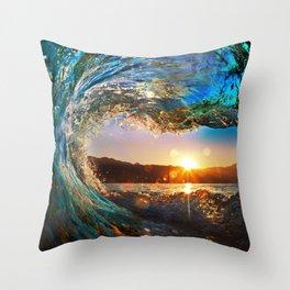 Beach - Waves - Ocean - Sun   Throw Pillow