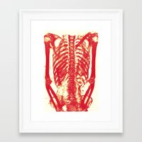 nicolas cage Framed Art Prints featuring Rib Cage  by troymac1892