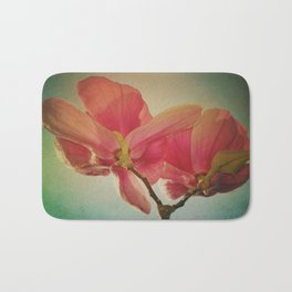 Vintage Spring Flowers Bath Mat