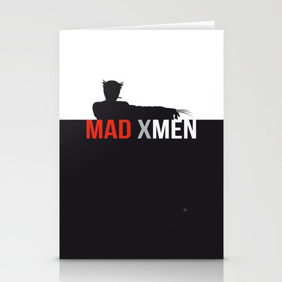 MAD X MEN Stationery Cards