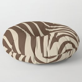 Zebra Stripes | Animal Print | Chocolate Brown and Beige | Floor Pillow