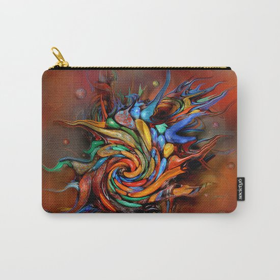 Abstract wash Carry-All Pouch