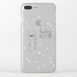 healing wounds Clear iPhone Case