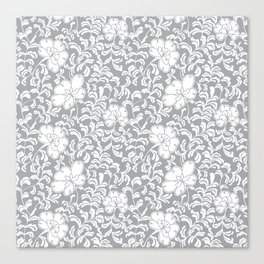 Japanese garden in grey Canvas Print