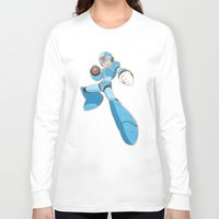 mega man Long Sleeve T-shirts featuring Mega-Man by HypersVE