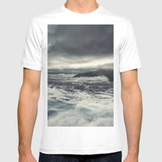 Wash Me Away White Mens Fitted Tee MEDIUM