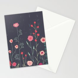 Plymouth Flowers Dark Stationery Cards