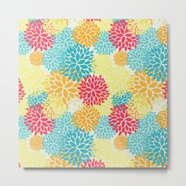 Floral seamless pattern, looks like fantasy flowers Metal Print