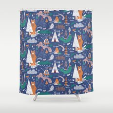 Bear camp Shower Curtain