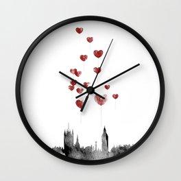 Love in London Wall Clock