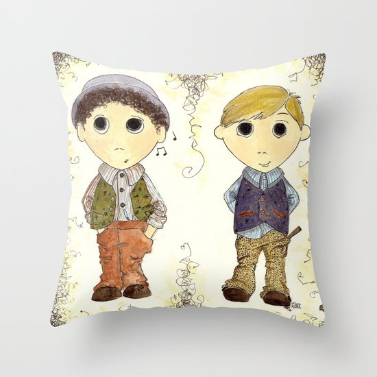The Twins: Hugo & Harry Throw Pillow