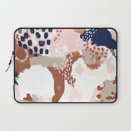 Sonia - rose gold navy copper modern abstract rosegold trendy pattern cell phone accessories Laptop Sleeve