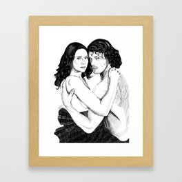 Jamie & Claire cover Framed Art Print