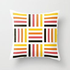 Pastel striped square pattern Throw Pillow