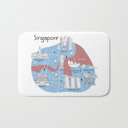 Mapping Singapore - Original Bath Mat