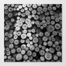 Black and White Lumber Canvas Print