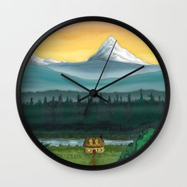 Cozy Cottage in the Woods Wall Clock