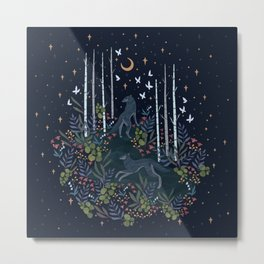 Midnight Exploration Metal Print
