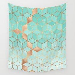 Soft Gradient Aquamarine Wandbehang