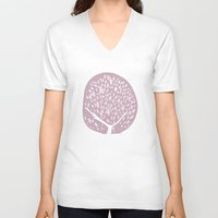 tree of life V-neck T-shirts featuring Tree of life - lilac by Seven Roses