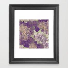 Aubergine Floral Hues Framed Art Print