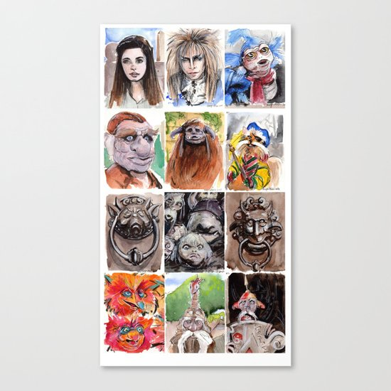Labyrinth Cast Canvas Print