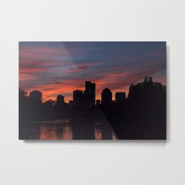 Atlanta cityscape during colorful sunset Metal Print