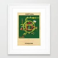 portugal Framed Art Prints featuring Portugal by federico babina