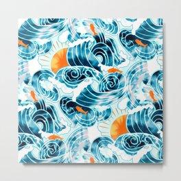 Bright Ocean 'Tide' Dye  Metal Print