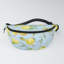 Watercolor lemons 10 Fanny Pack