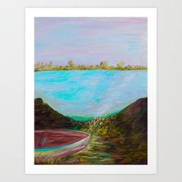 A Boat and a Seamless Sky Art Print