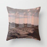 portal Throw Pillows featuring Portal by DM Davis