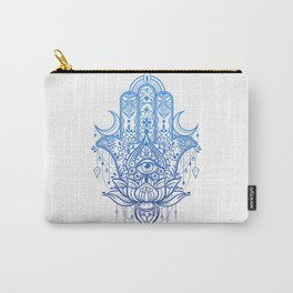 Hamsa Lotus Hand Carry-All Pouch
