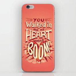 Heart went boom iPhone Skin
