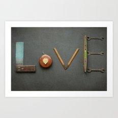 LOVE Vintage Tools Art Print