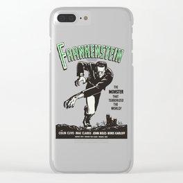 Frankenstein Vintage 1931 Movie Poster, Original Gift Idea, Boris Karloff, Bela Lugosi, Dracula Clear iPhone Case