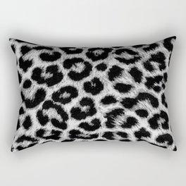 ReAL LeOparD B&W Rectangular Pillow