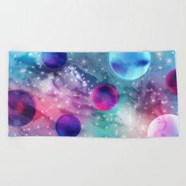 Vaporwave Pastel Space Mood Beach Towel