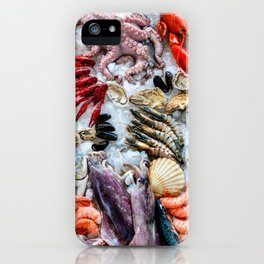 seafood on ice iPhone Case
