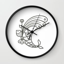 Perfect Balance - Letter C Wall Clock